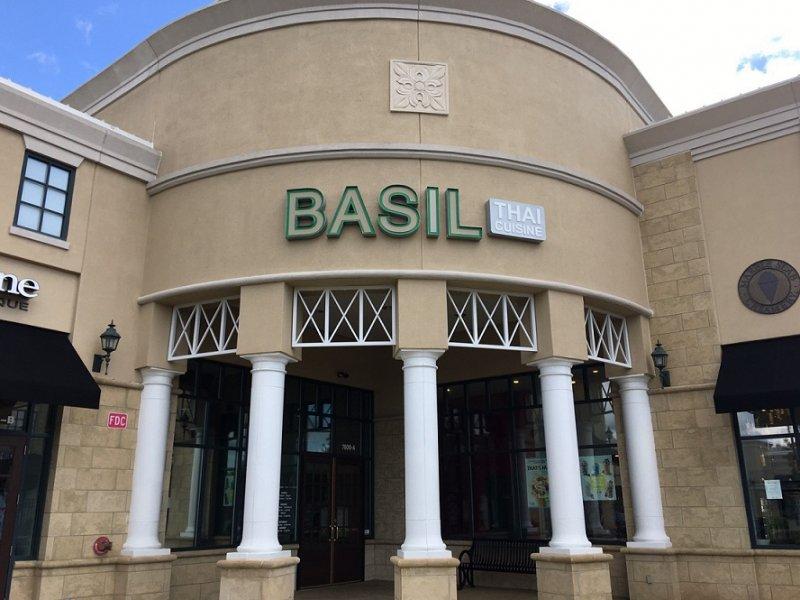 Basil Thai Cuisine of Charlotte - Sign