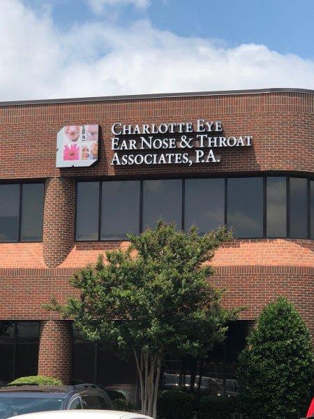 Charlotte Eye Ear Nose Building Sign