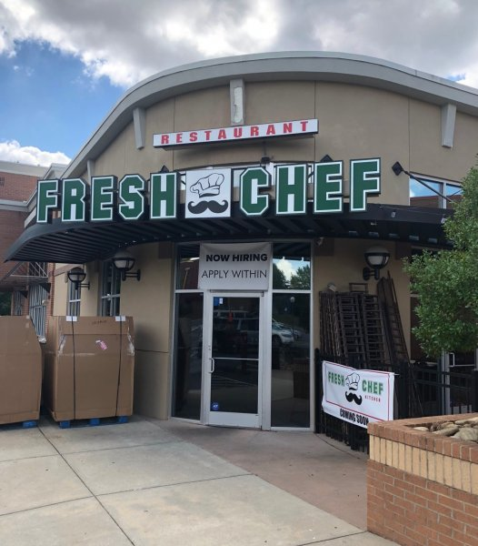 Fresh Chef Restaurant Sign