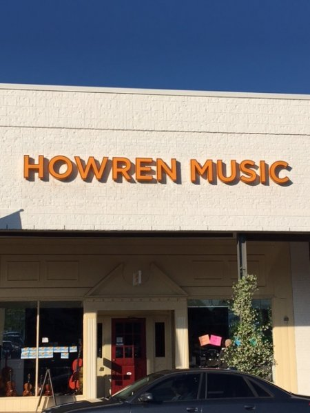 Howren Music Sign Close-up