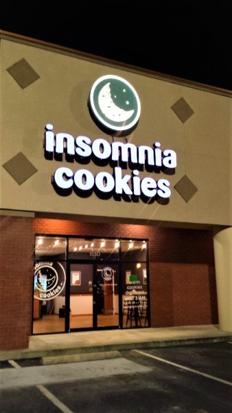 Insomnia Cookies Channel Letter Sign
