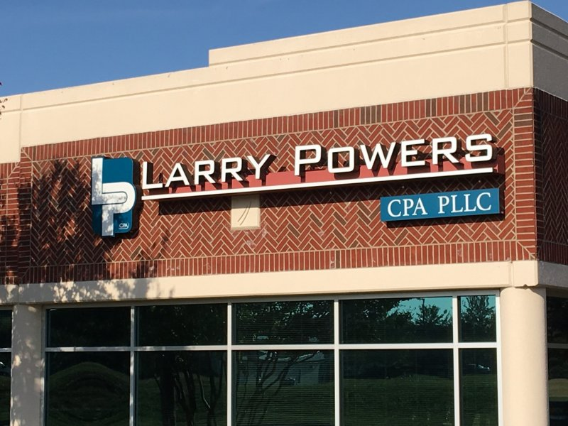 Larry Powers CPA Channel Letter Sign