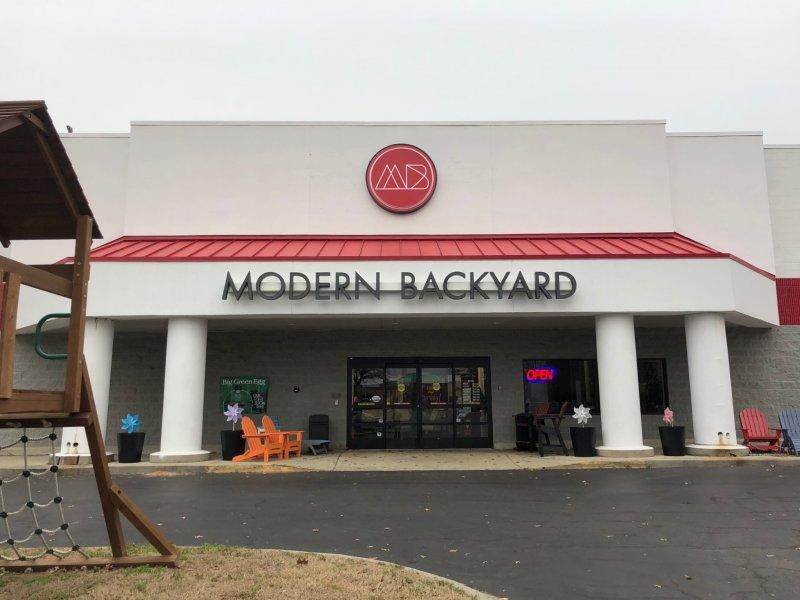 Modern Backyard Building Signs