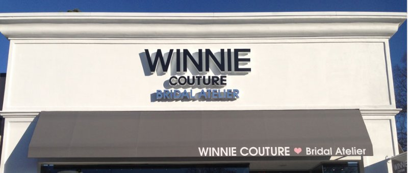 Channel Letter Signage at Winnie Couture - Charlotte, NC