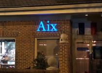 Aix en Provence Restaurant - Close Up of Sign