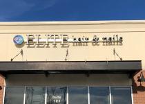 Elite Hair & Nails Channel Letter Sign