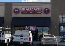 Smallcakes Storefront Signage
