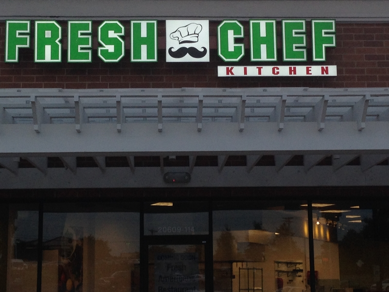 fresh chef sign company in charlotte