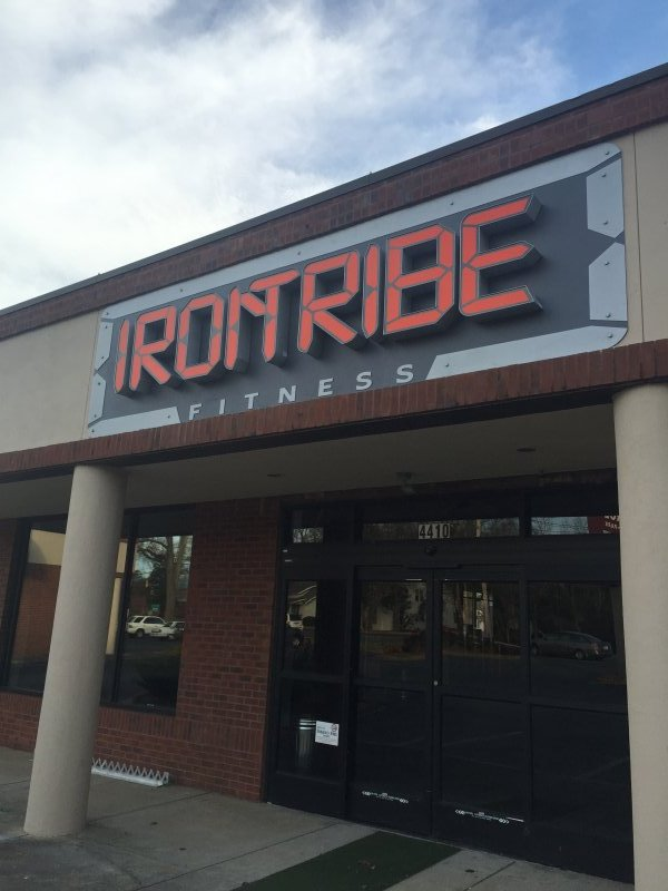 Exterior Sign at Iron Tribe Gym in Charlotte, NC