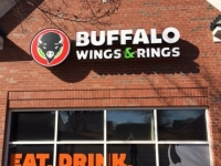 Channel Letter Set with Logo - for Buffalo Wings and Rings, Charlotte NC