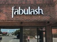 Fabulash of Charlotte - Channel Letter Sign