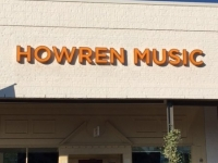 Howren Music Sign Close-up