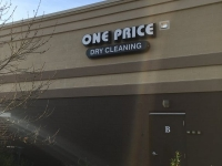 Channel Letter & Lightbox Combination Sign for One Price Cleaners in Charlotte, NC