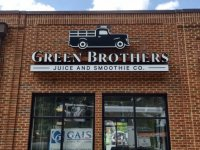 Green Brothers Juice - Channel Letter Sign w/Logo