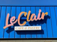 LED Channel Letter Sign with Light Box Tagline for LeClair Café of Mt. Holly, NC