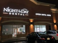 Illuminated Channel Letter Signage - Night & Day Dental of Charlotte