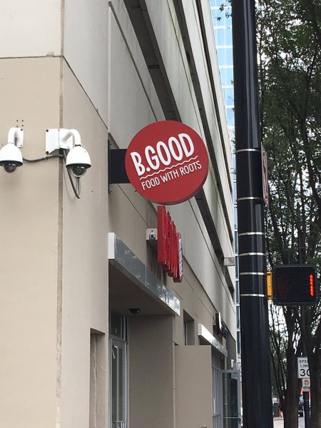 B GOOD of Uptown Charlotte - Blade Sign
