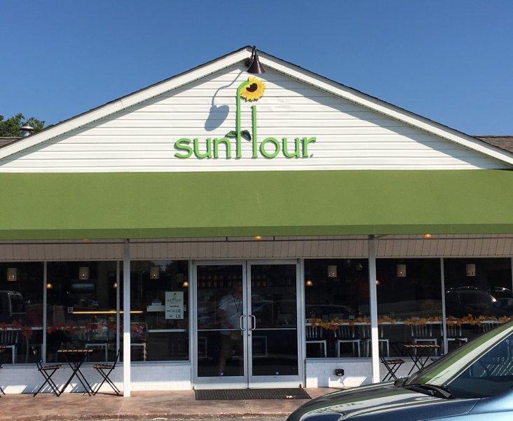 Building Sign Sunflour Baking Co.