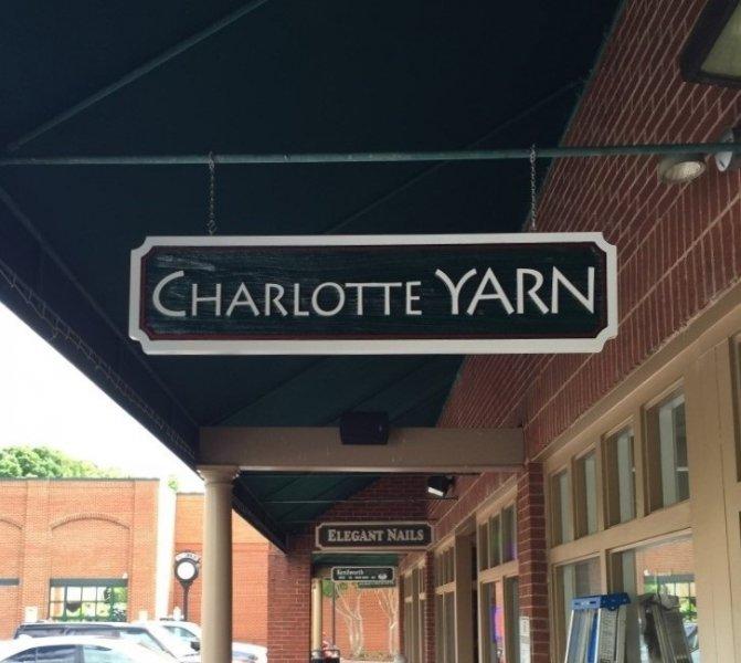 Charlotte Yarn - Hanging Blade Sign