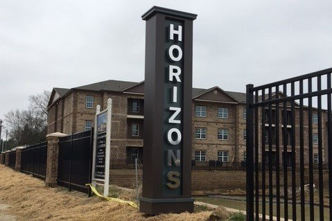 Horizons at Steele Creek - Pylon Style Monument Sign
