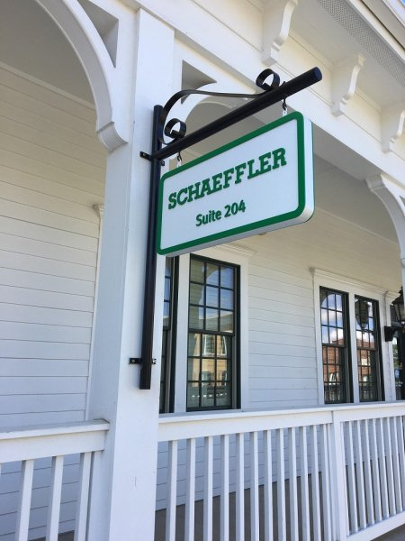 Schaeffler Group of Fort Mill, SC ~ Hanging Logo Sign with Dimensional Graphics