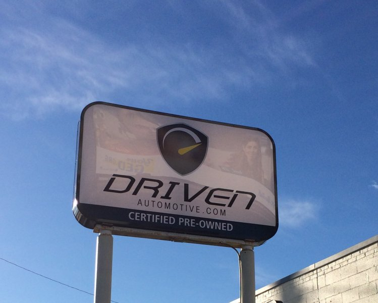 Driven Automotive - New Panels for Existing Pylon Sign