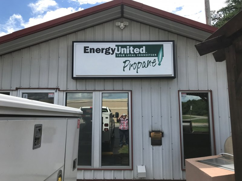 Vaccuum-Formed Acrylic Face with Flat Translucent Vinyl Graphics - for Energy United Propane