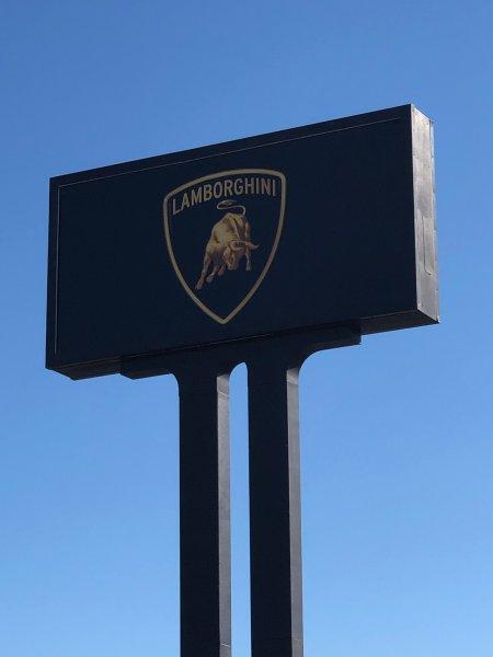 Lamborghini Pole Sign - Refurbished