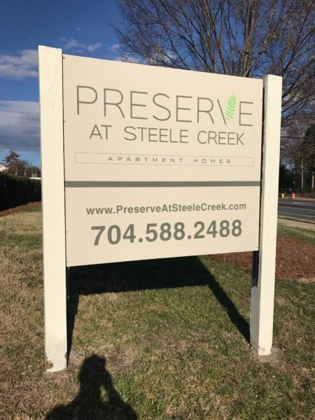 Preserve at Steele Creek Post & Panel Sign