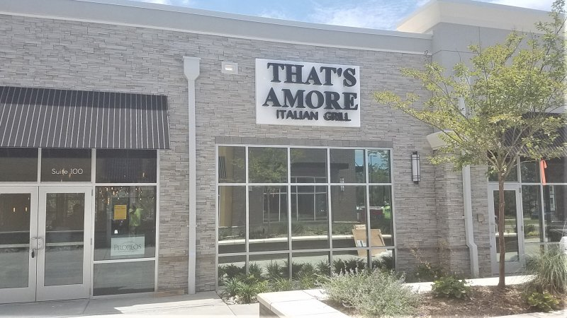 INSTALLATION ONLY - That's Amore Italian Grill Signage