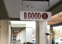 B Good Restaurant - Hanging Outdoor Sign