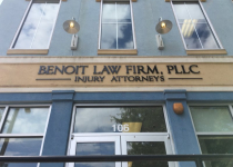 Exterior Sign for Benoit Law of Charlotte