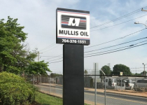Mullis Oil of Charlotte - Refurbishment of Pole Sign