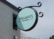 Villani's Bakery ~~ Circular Blade Sign with Custom Bracket/Design