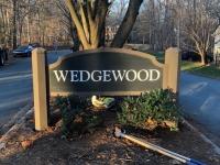 Wedgewood Neighborhood Exterior HDU/Wood Sign