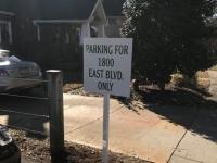 Parking Lot Sign for Kiger Law, Charlotte NC
