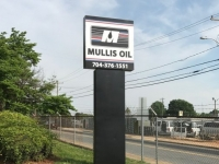 Mullis Oil of Charlotte - Refurbishment of Pole Sign