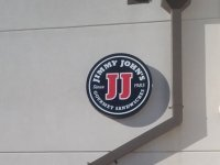 Jimmy John's Sign - Round Light Box Sign with Acrylic Face