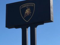 Lamborghini Pole Sign - Refurbished
