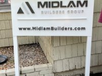 Aluminum Construction Site Signs with Dimensional Acrylic Letters
