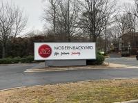 Modern Backyard Signage