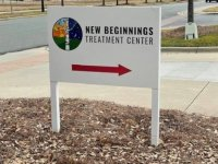 New Beginnings Treatment Center – Directional Sign with Vinyl Print Graphics