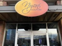 Custom Cabinet Sign for Nyoni Couture of Charlotte