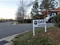 OATi of Indian Trail, NC -- Post & Panel Sign with Vinyl Print Graphics