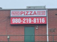 Panels for Cabinet Sign - Papa's Pizza To Go