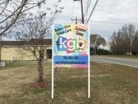 Post & Panel Sign - Northside City Church / Kids Going Bananas