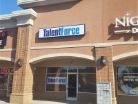 Talent Force Box Sign with Vinyl Graphics