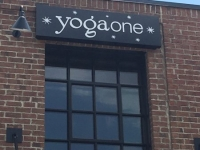 Routed Exterior Wall Sign for Yoga One of Charlotte