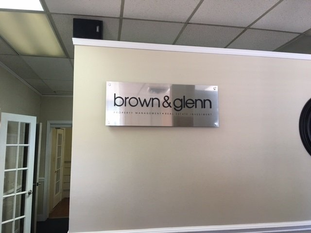 Brown and Glenn - Interior Wall Sign