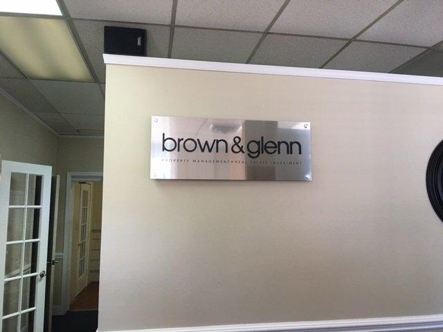 Brown and Glenn - Interior Wall Sign
